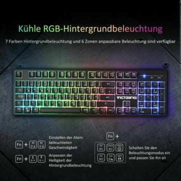 Victsing Gaming Tastatur Licht