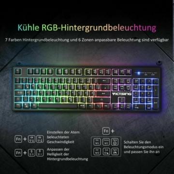Die VicTsing PC136A Rubberdome Gaming Tastatur im Test