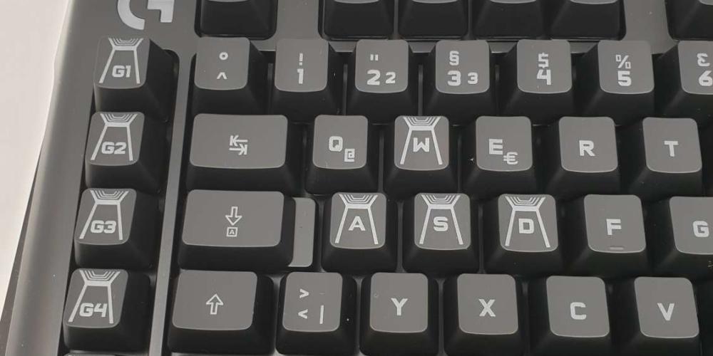 Gravierte Keycaps