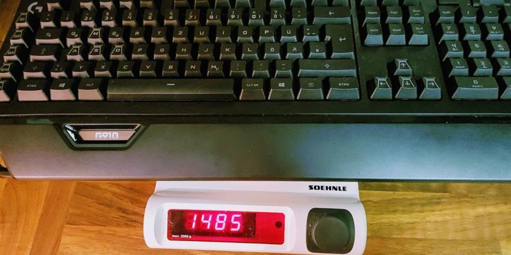 LogitechG910 Gewicht ohne Kabel (1)