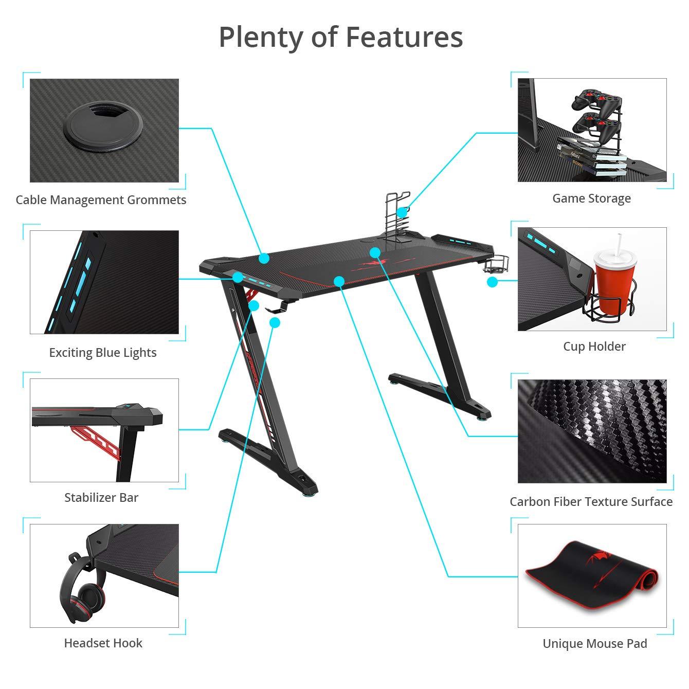 Features Übersicht des Eureka Ergonomic Z1-S Tisches